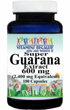 1412 Buy 1 Get 2 Free Super Guarana Extract Equivalent 2400mg 100caps or (200caps Scroll Down)