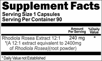 14122 Rhodiola Rosea Extract 2400mg 90caps Buy 1 Get 2 Free