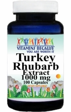 14207 Buy 1 Get 2 Free Turkey Rhubarb Extract 1000mg 100caps or (200caps Scroll Down)