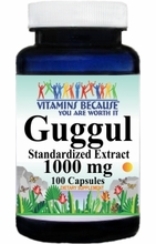 1436 Buy 1 Get 2 Free Guggul Standardized Extract 1000mg 100caps or (200caps Scroll Down)