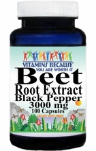 14665 Buy 1 Get 2 Free Beet Root Extract Black Pepper 3000mg 100caps or (200caps Scroll Down)