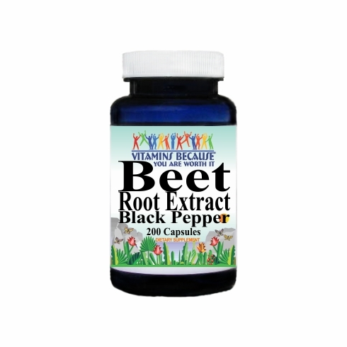 14672 Buy 1 Get 2 Free Beet Root Extract Black Pepper Equivalent 3000mg 200caps or (100caps Scroll Down)