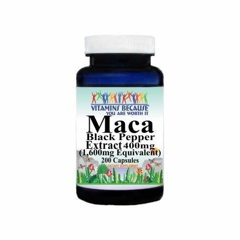 14795 Buy 1 Get 2 Free Maca Extract Black Pepper Equivalent 1600mg 200caps or (100caps Scroll Down)