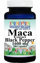 14795 Buy 1 Get 2 Free Maca Extract Black Pepper 1600mg 200caps or (100caps Scroll Down)