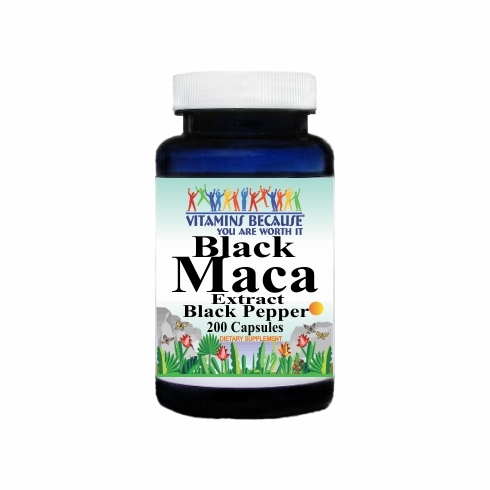14818 Buy 1 Get 2 Free Black Maca Extract Black Pepper Equivalent 1600mg 200caps or (100caps Scroll Down)