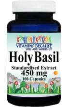 1498 Buy 1 Get 2 Free Holy Basil Standardized Extract 450mg 100caps or (200caps Scroll Down)