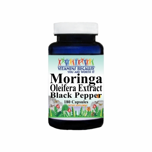 15037 Buy 1 Get 2 Free Moringa Oleifera Extract Black Pepper Equivalent 5000mg 180caps or (90caps Scroll Down)
