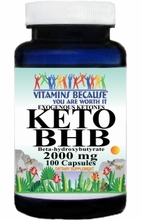 15167 Buy 1 Get 2 Free KETO BHB Exogenous Ketones 2000mg 100caps or (200caps Scroll Down)