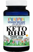 15181 Buy 1 Get 2 Free KETO BHB No Caffeine Exogenous Ketones 2000mg 100caps or (200caps Scroll Down)