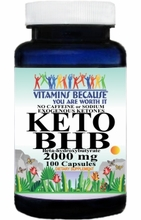 15204 Buy 1 Get 2 Free KETO BHB No Caffeine or Sodium Exogenous Ketones 2000mg 100caps or (200caps Scroll Down)