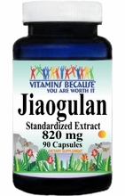 1610 Buy 1 Get 2 Free Jiaogulan Standardized Extract 820mg 90caps or (180caps Scroll Down)