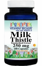 1863 Buy 1 Get 2 Free Milk Thistle Standardized Extract 250mg 100caps or (200caps Scroll Down)