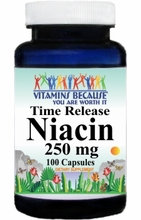 3409 Buy 1 Get 2 Free Niacin Time Release 250mg 100caps or (200caps Scroll Down)