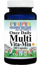 3867 Buy 1 Get 2 Free Once Daily Multi-Vita-Min 100caps or (200caps Scroll Down)