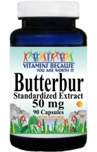 3966 Buy 1 Get 2 Free Butterbur Standardized Extract 50mg 90caps or (180caps Scroll Down)