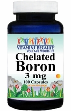 4185 Buy 1 Get 2 Free Chelated Boron 3mg 100caps or (200caps Scroll Down)