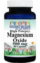 4239 Buy 1 Get 2 Free Magnesium Oxide High Potency 500mg 90caps or (180caps Scroll Down)