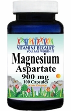 4277 Buy 1 Get 2 Free Magnesium Aspartate 900mg 100caps or (200caps Scroll Down)