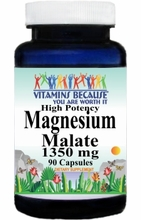 4291 Buy 1 Get 2 Free Magnesium Malate High Potency 1350mg 90caps or (180caps Scroll Down)