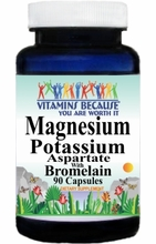 4376 Buy 1 Get 2 Free Magnesium Potassium Aspartate and Bromelain 90caps or (180caps Scroll Down)