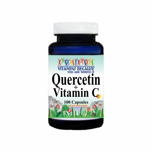 5007 Buy 1 Get 2 Free Quercetin 500mg and Vitamin C 1400mg 100caps