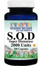 5076 OUT OF STOCK S.O.D (Superoxide Dismutase) 250mg 100caps