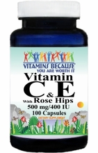 5281 Buy 1 Get 2 Free Vitamin C & E with Rosehips 100caps or (200caps Scroll Down)