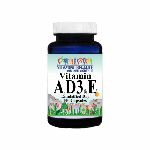 5540 Buy 1 Get 2 Free Vitamin A, D3 & E (Emulsified Dry) 100caps or (200caps Scroll Down)