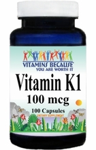 5564 Buy 1 Get 2 Free Vitamin K 100mcg 100caps or (200caps Scroll Down Available)