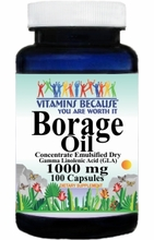5724 Buy 1 Get 2 Free Borage Oil Concentrate Emulsified Dry 1000mg 100caps or (200caps Scroll Down)