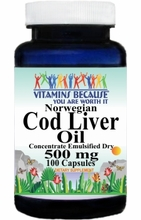 5748 Buy 1 Get 2 Free Norwegian Cod Liver Oil Concentrate 500mg 100caps or (200caps Scroll Down)