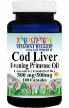 5786 Buy 1 Get 2 Free Cod Liver Oil Concentrate and Evening Primrose 100caps or (200caps Scroll Down)