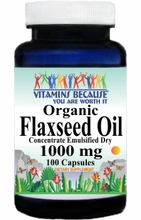 5861 Buy 1 Get 2 Free Organic Flaxseed Oil (Emulsified Dry) 1000mg 100caps or (200caps Scroll Down)