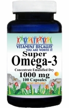 5960 Buy 1 Get 2 Free Super Omega 3 (Emulsified Dry) 1000mg 100caps or (200caps Scroll Down)