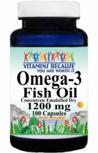 5984 Buy 1 Get 2 Free Omega 3 Fish Oil (Emulsified Dry) 1200mg 100caps or (200caps Scroll Down)