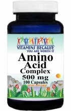 6141 Buy 1 Get 2 Free Amino Acid 500mg Complex 100caps or (200caps Scroll Down)