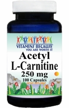 6226 Buy 1 Get 2 Free Acetyl L-Carnitine 250mg 100caps
