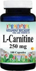 6271 L-Carnitine 250mg 100caps Buy 1 Get 2 Free