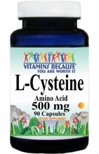 6356 Buy 1 Get 2 Free L-Cysteine 500mg 90caps or (180caps Scroll Down)