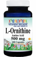 6486 Buy 1 Get 2 Free L-Ornithine 500mg 100caps