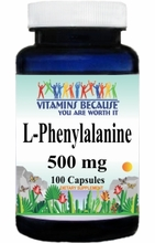 6523 Buy 1 Get 2 Free L-Phenylalanine 500mg 100caps or (200caps Scroll Down)