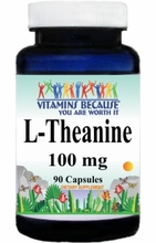 6554 Buy 1 Get 2 Free L-Theanine 100mg 90caps or (180caps Scroll Down)