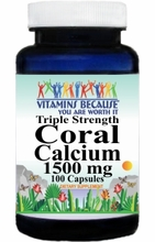 6608  Buy 1 Get 2 Free Triple Strength Coral Calcium 1500mg 100caps or (200caps Scroll Down)