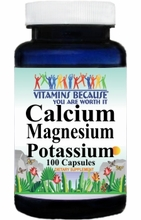 6875 Buy 1 Get 2 Free Calcium Magnesium and Potassium 100caps or (200caps Scroll Down)