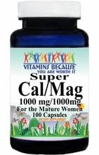 7018 Buy 1 Get 2 Free Super Cal and Mag for Women 1000mg/1000mg 100caps