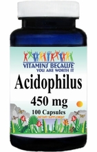 7070 Buy 1 Get 2 Free Acidophilus (Keep Refrigerated) 450mg 100caps or (200caps Scroll Down)