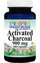 7162 Buy 1 Get 2 Free Activated Charcoal 900mg 100caps or (200caps Scroll Down)