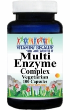 7186 Buy 1 Get 2 Free Multi-Enzyme Complex 100caps or (200caps Scroll Down)