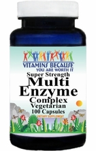 7209 Buy 1 Get 2 Free Super Strength Multi-Enzyme Complex 100caps or (200caps Scroll Down)