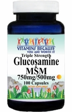7674 Buy 1 Get 2 Free Triple Strength Glucosamine and MSM 100caps or (200caps Scroll Down)